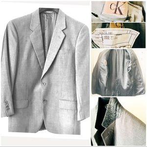 💙 CALVIN KLEIN Men Gray Suit Blazer 38R
